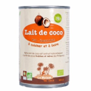 Lait De Coco 400ml Phillippine La Maison Du Coco BIO