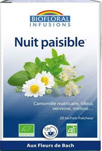 Infusion Nuit Paisible Bach 20x1.2g BIOfloral BIO
