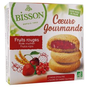 COEURS GOURMANDS FRUITS ROUGES 180G 6X2 BISSON BIO