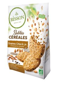 Biscuits Sables Cereales Chia Et Lin 200g Bisson BIO
