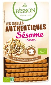 Biscuits Authentiques Sesame Bisson 175g BIO
