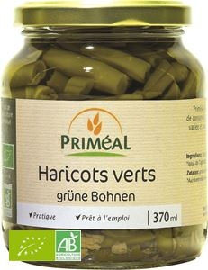 Haricots Verts Coupes 185g / 370ml Primeal BIO