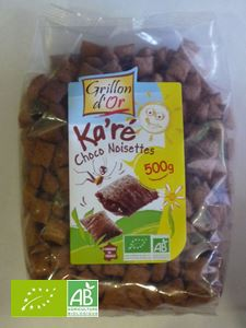 Ka're Chocolat Fourre Chocolat Noisette 500g BIO