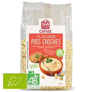 Flocons Pois Chiches 350g France Celnat BIO