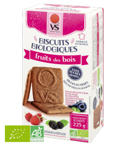 BISCUITS SANS SUCRE AUX FRUITS DES BOIS 225G VS BIO