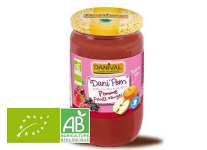 Puree De Pomme Fruits Rouges 700g Dani'pom BIO