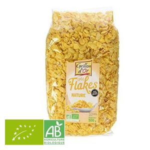 Corn Flakes Natures Sans Sucre 500g Grillon D'or BIO