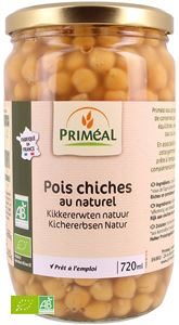 POIS CHICHES AU NATUREL 420G / 720ML PRIMEAL BIO