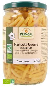 HARICOTS BEURRE EXTRA FINS COUPES 380G / 720ML FRANCE PRIMEAL BIO