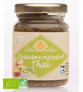 Assaisonnement Thai En Pate Bocal 90g Idbio BIO